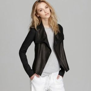 Vince Rustic Linen and Leather Jacket